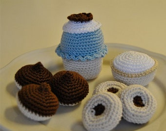 Instant Download - PDF Crochet Pattern - Swedish Cakes and Cookies 2