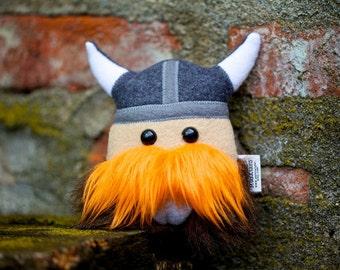 Little Stuffed Viking Warrior Mini Magnus Plush Friend, READY TO SHIP