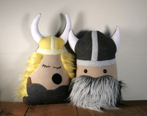Stuffed Viking Plush Valerie the Opera Singing Friend with FLUFFY Hair and Ready to SHIP
