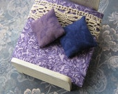 Miniature Bed and Bedding - Reserved for akosuadeerlady