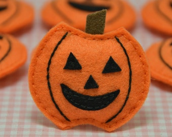 Sale! Set of 6pcs handmade puffy pumpkin (FT757)