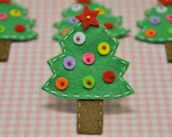 Set of 6pcs handmade felt Christmas Tree (FT759)