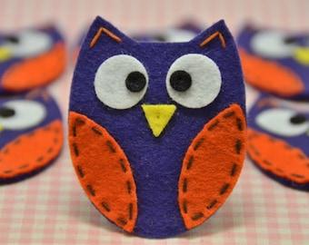 Set of 6pcs handmade felt owl--passion (FT722)