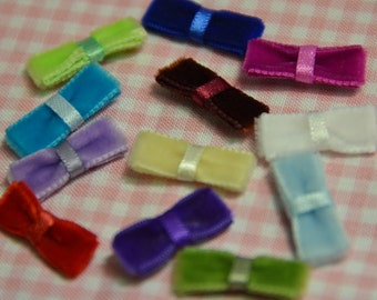 Set of 12pcs handmade velvet bow--mix colors (VT17)