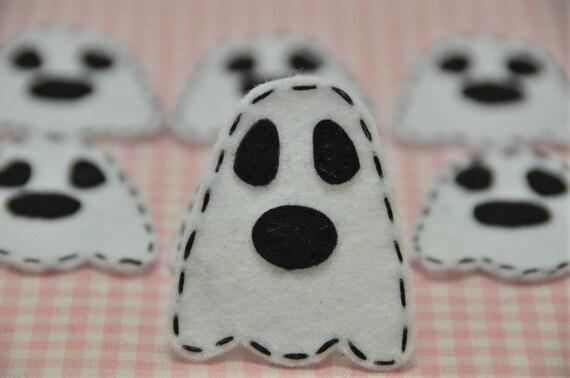 Set of 6pcs handmade felt Halloween Ghost (FT854)