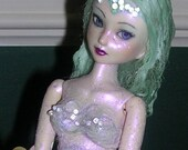 Mermaid Altered Ball Jointed Art Doll