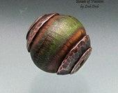 Handmade Glass Beads Lampwork Set - Terra Cotta Copper Capped