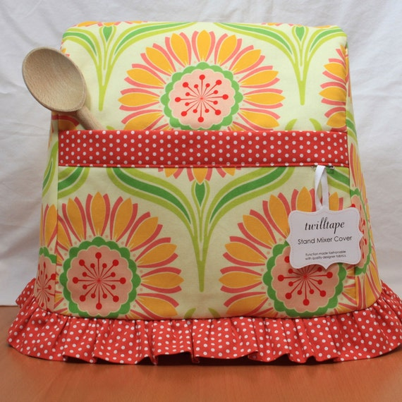 Stand Mixer Cover- Pop Daisy Rose (Bowl-Lift size)