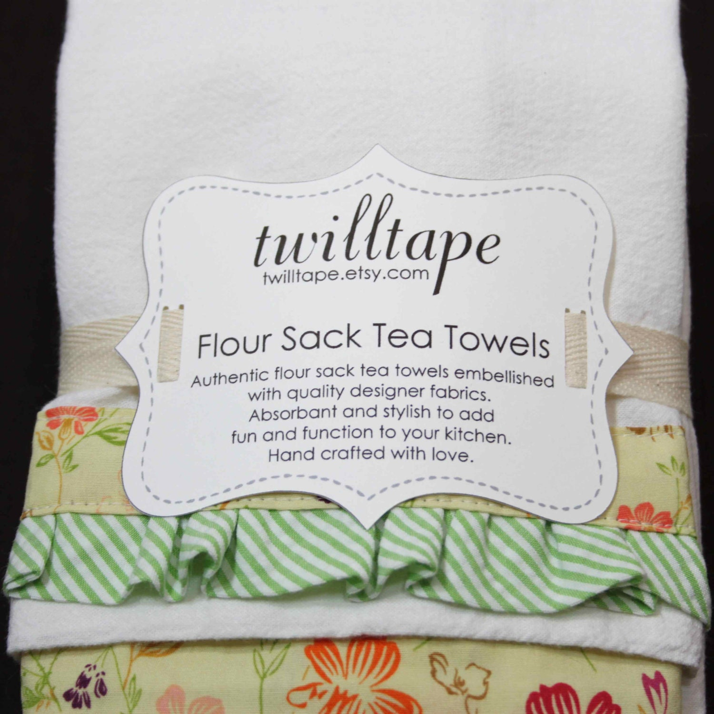 Tea Towels Unique: Reserved For Kelley Custom Flour Sack Tea Towel Sets By