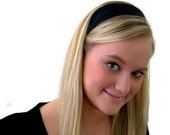 Skinny Headband, Deep Black Beautiful Solid Headband By Bargain Headbands