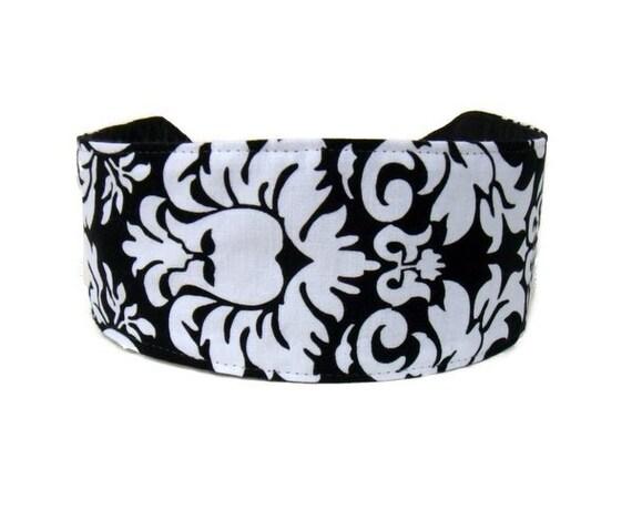 Bohemian Dandy Damask, Pure Elegance, Black and White Inspiration, Michael Miller Fabric, Beautiful Headband