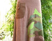 RESERVED FOR AMANDA Doug Fir Skirt Hemp and Organic cotton Terry