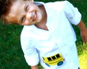 Preppy Bus Boy Shirt Custom Made, Personalize-BACK TO SCHOOL