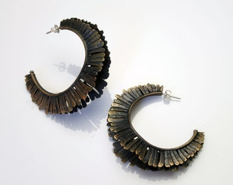 Mohawk double earrings