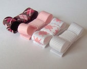 Newborn Clippie Set of 4 Preppy Girl