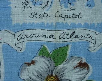 Vintage Atlanta Georgia Hanky - Hankie Handkerchief