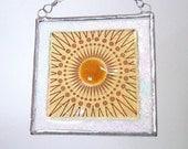 Sun Fused Glass Light Catcher Suncatcher Amber