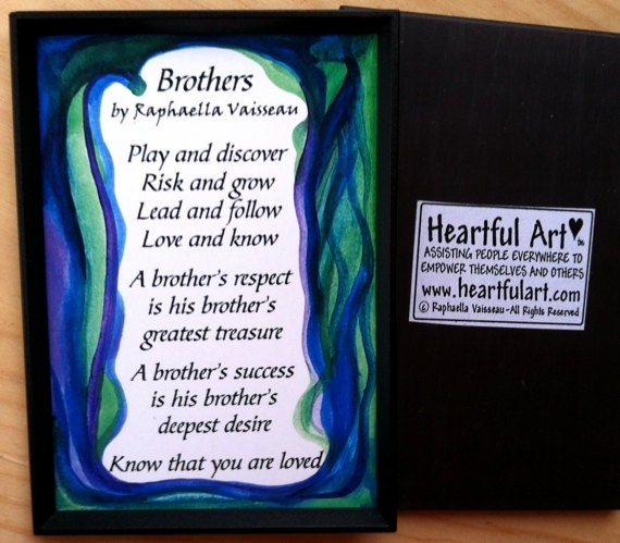 Brother And Sister Support Quotes: BROTHERS POEM MAGNET Original Poem Inspirational By