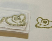 Hand carved mouse stamp