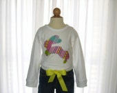 Easter Bunny Applique - Girls Shirt