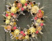 SWEET PETITTE Country dried wildflower wreath