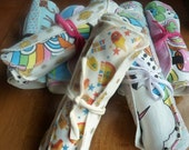 Custom Cloth Wipes - Set of 4 - Your Choice of Fabrics