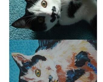 "CUSTOM, original acrylic pet painting 12 x 16"""