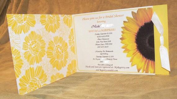 RESERVED for Linda - Sunflower Invitation