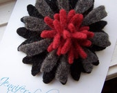 Repurposed Felted Wool Brooch - Classic