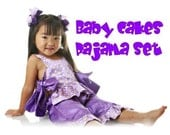 Girls Baby Cakes Pajama set pattern ebook. 2T-4T