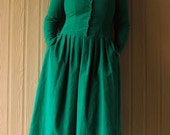 Vintage spruce green corduroy dress