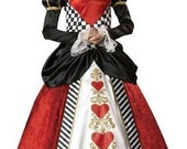 Renaissance,Victorian Period,Red Queen of Hearts Costume