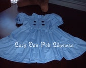 Toddler size Charlie Brown's Lucy Van Pelt  Dress