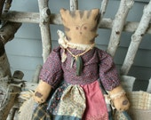 Annie the Quilting Country Cat Doll Hand made OOAK Free ship Us In Stock
