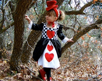 Red Queen of Hearts Alice in Wonderland toddler