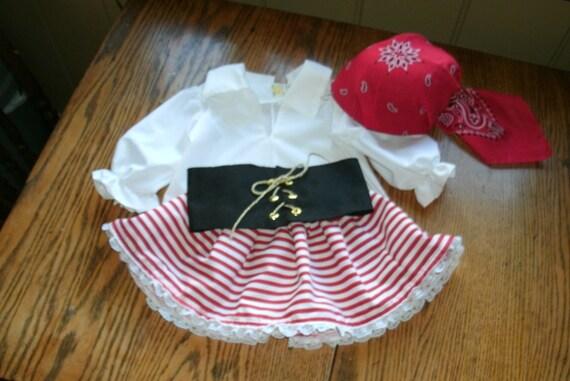 Pirate Costume,Girl Toddler, left corner picture