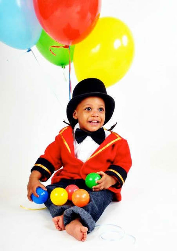 Circus Ring Master Jacket, hat and tie, Toddler Costume Boy or girl
