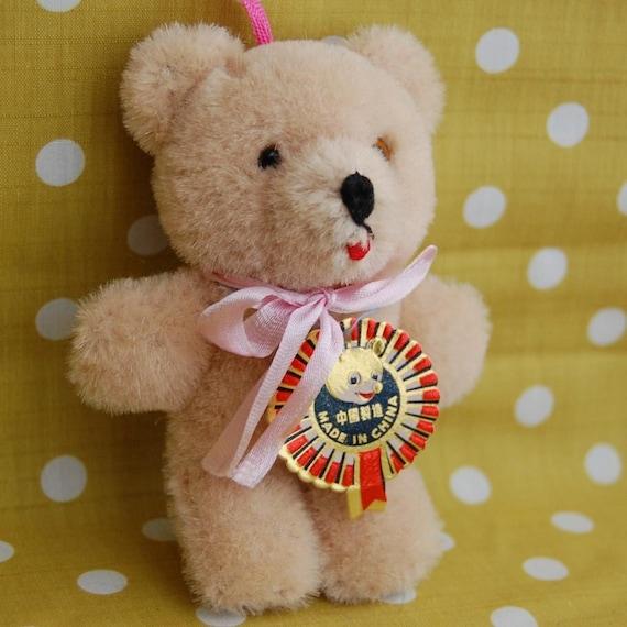 SALE:  Vintage 1960s Mohair Stuffed Bear Shanghai China