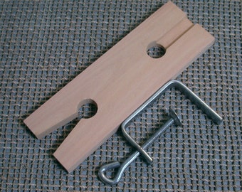 Wood Bench pin for sawing metal sheet and wire and work support surface