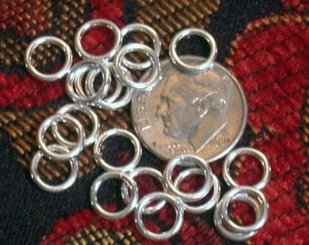 17 gauge thick exceptional quality 7.5mm polished sterling jumprings 20pc