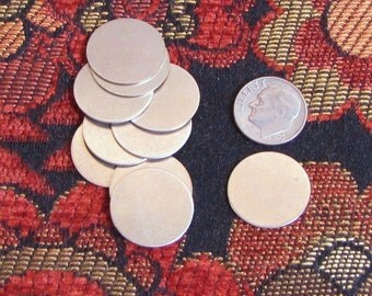 20 gauge 3/4 Nickel silver discs - 10 count - a great low cost way to stamp