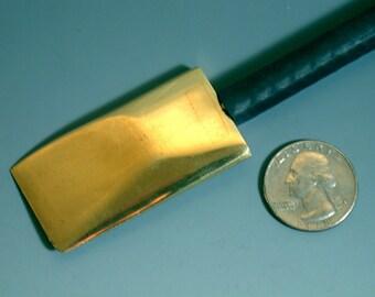 Solid Brass lampwork glass shaper tool 30mm x 51mm head size sharp edged
