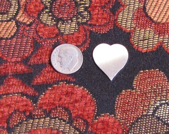 3/4 sterling 22 gauge heart disc for hand stamping charm making lovely quality