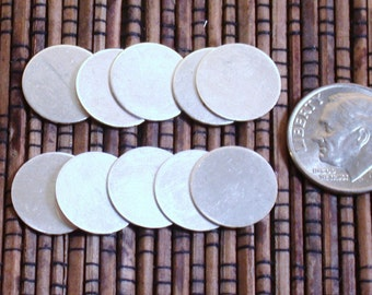 1/2 inch 24 gauge sterling discs blanks 10 pack Initial stamping