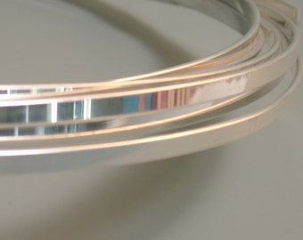 Cuff wire, Thick Flat cuff wire, Sterling Silver wire,  1/16 x 3/16 inch, 1.58x4.76 mm, choose length