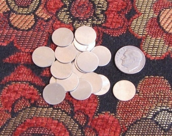 22 gauge 1/2 Nickel silver discs - 40 count - a great low cost way to stamp
