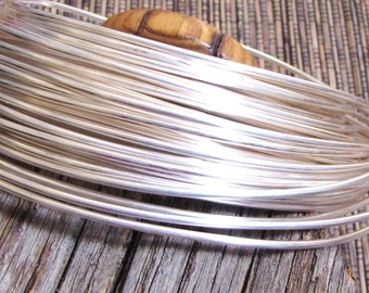 12 gauge Round Sterling Filled Wire 5 ft 10% sterling bonded to white brass super alternative to sterling