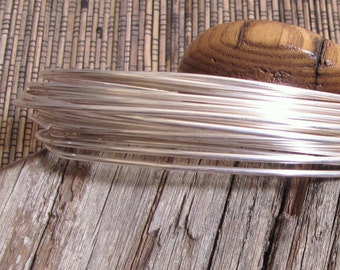 round sterling filled  14 gauge wire 5 ft 10 % sterling bonded to white brass super alternative to sterling