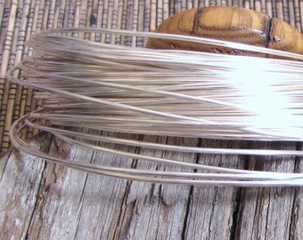 16 gauge round sterling filled wire 5 ft 10 % sterling bonded to white brass super alternative to sterling