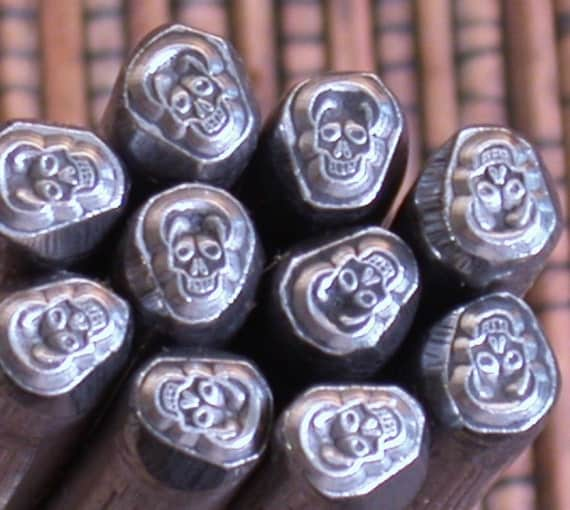 Skull design stamp for jewelry stamping silver cooper brass